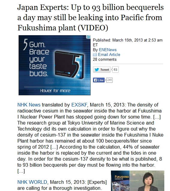 Japan Experts Up to 93 billion becquerels a day may still be leaking into Pacific from Fukushima plant.jpg