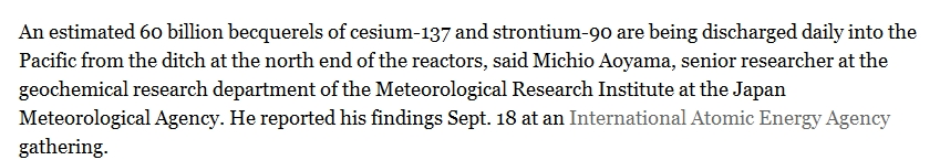LA Times 60 billion becquerels of cesium-137 and strontium-90 are being discharged daily into the Pacific.jpg