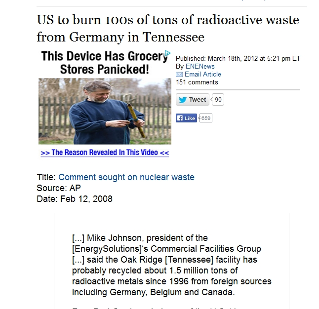 9 US to burn 100s of tons of radioactive waste from Germany in Tennessee.jpg