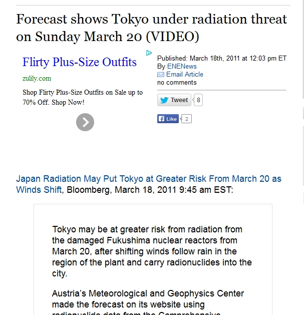219 km  Forecast shows Tokyo under radiation threat on Sunday March 20.jpg