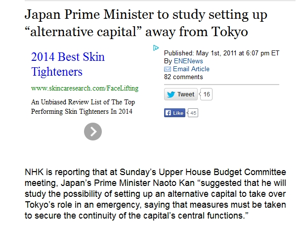 "221 km Japan Prime Minister to study setting up ""alternative capital"" away from Tokyo.jpg"