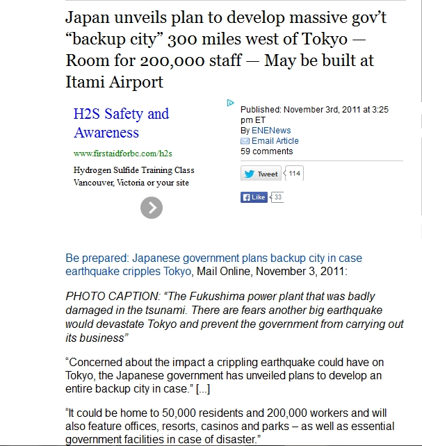 "221 km Japan unveils plan to develop massive gov't ""backup city"" 300 miles west of Tokyo.jpg"