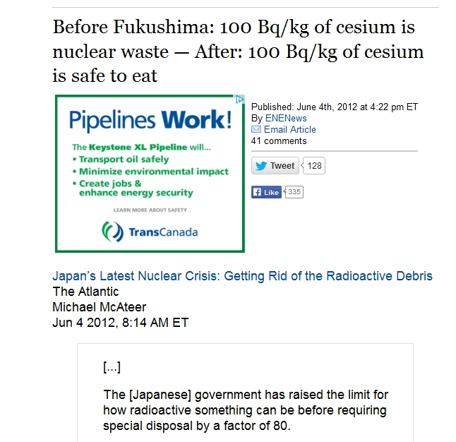 Before Fukushima 100 Bqkg  cesium waste  After 100 Bqkg safe eat.jpg