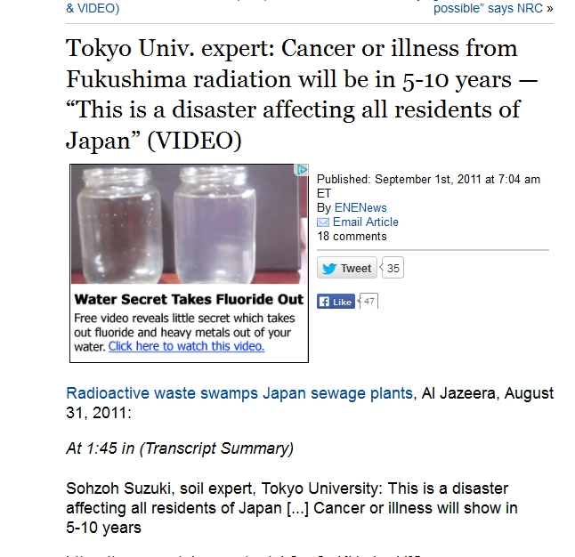 Cancer or illness from Fukushima radiation will be in 5-10 years.jpg