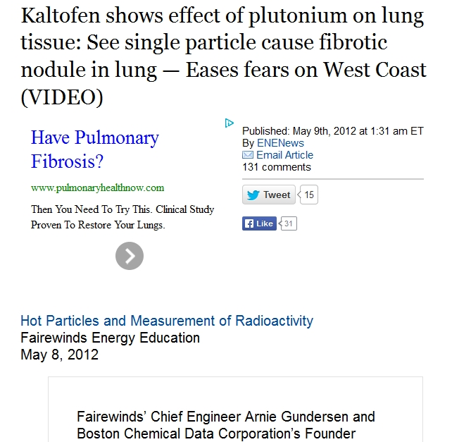 Kaltofen shows effect of plutonium on lung tissue See single particle cause fibrotic nodule in lung 1.jpg