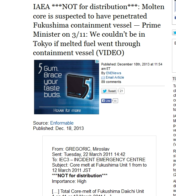 IAEA NOT for distribution Molten core is suspected to have penetrated Fukushima containment vessel.jpg
