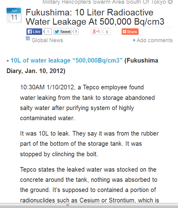 Fukushima 10 Liter Radioactive Water Leakage At 500,000 Bqcm3.png