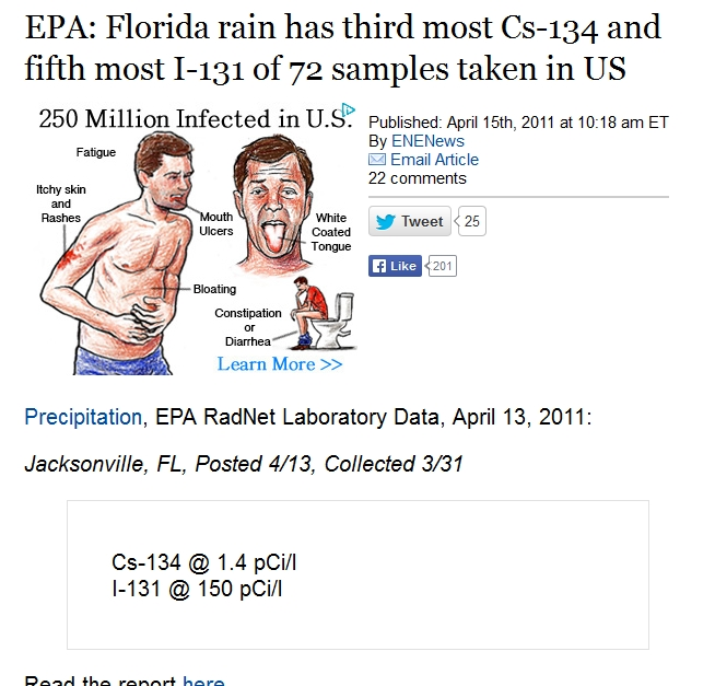 3 EPA Florida rain has third most Cs-134 and fifth most I-131 of 72 samples taken in US.jpg
