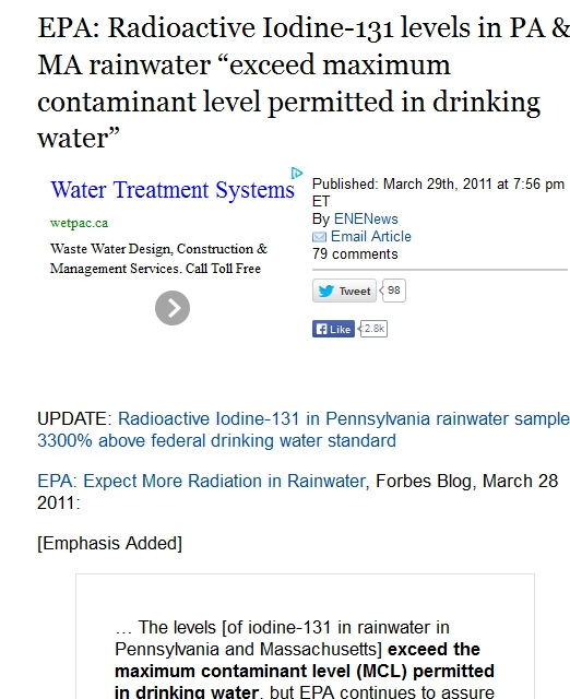 "EPA Radioactive Iodine-131 levels in PA & MA rainwater ""exceed maximum contaminant level.jpg"