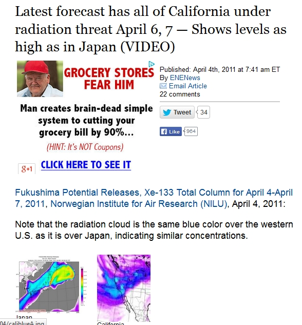 Latest forecast has all of California under radiation threat April 6, 7 — Shows levels as high as in Japan 1.jpg