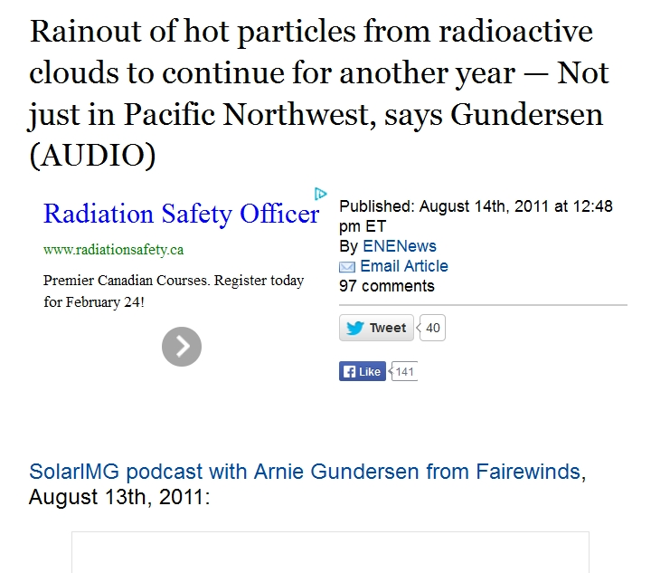 Rainout of hot particles from radioactive clouds to continue for another year — Not just in Pacific Northwest, says Gundersen.jpg