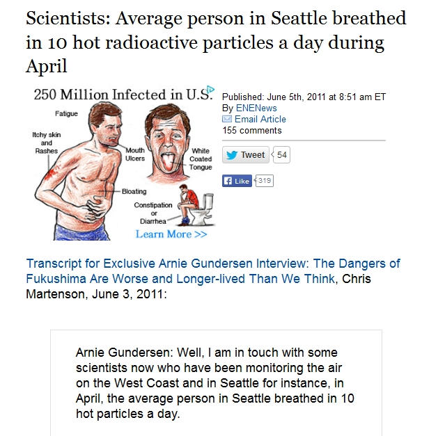 Scientists Average person in Seattle breathed in 10 hot radioactive particles a day during April.jpg