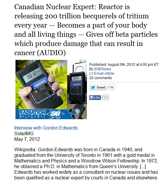 Canadian Nuclear Expert Reactor is releasing 200 trillion becquerels of tritium every year.jpg