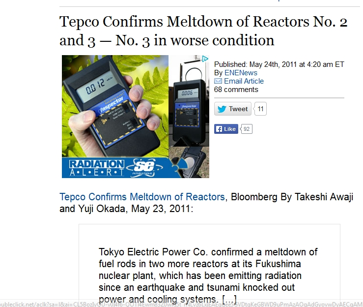 Tepco Confirms Meltdown of Reactors No. 2 and 3 — No. 3 in worse condition.jpg