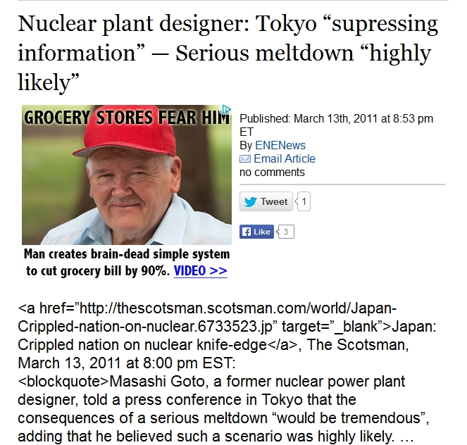 "2 Nuclear plant designer Tokyo ""supressing information"" — Serious meltdown ""highly likely"".jpg"