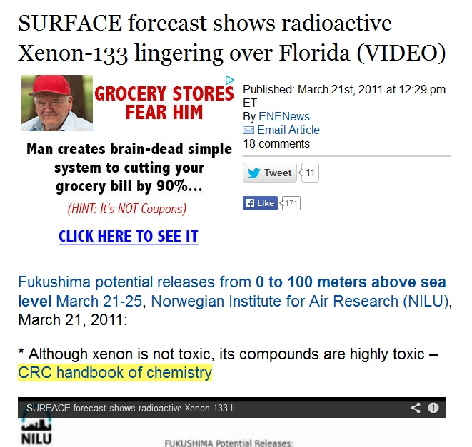 4c SURFACE forecast shows radioactive Xenon-133 lingering over Florida.jpg