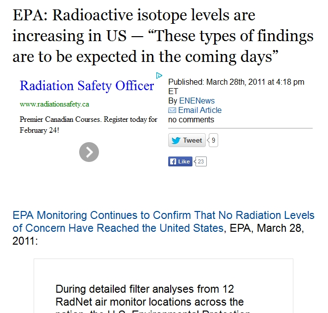 "EPA Radioactive isotope levels are increasing in US — ""These types of findings are to be expected in the coming days.jpg"