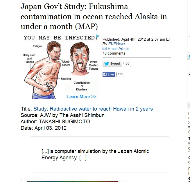 Japan Gov't Study Fukushima contamination in ocean reached Alaska in under a month.jpg