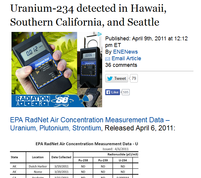 Uranium-234 detected in Hawaii, Southern California, and Seattle.PNG
