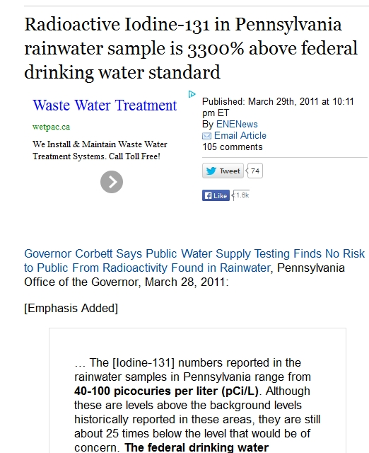 Radioactive Iodine-131 in Pennsylvania rainwater sample is 3300% above federal drinking water standard.jpg