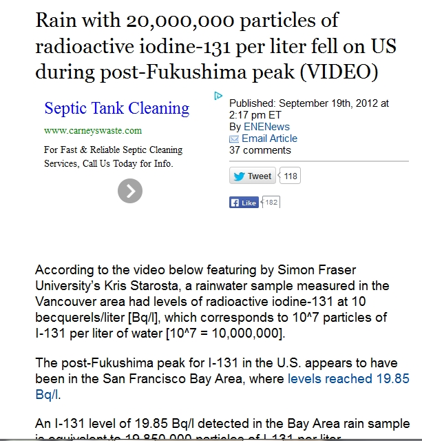 4   A Rain with  20,000,000 particles of radioactive iodine-131 per liter fell on US during post-Fukushima peak.jpg