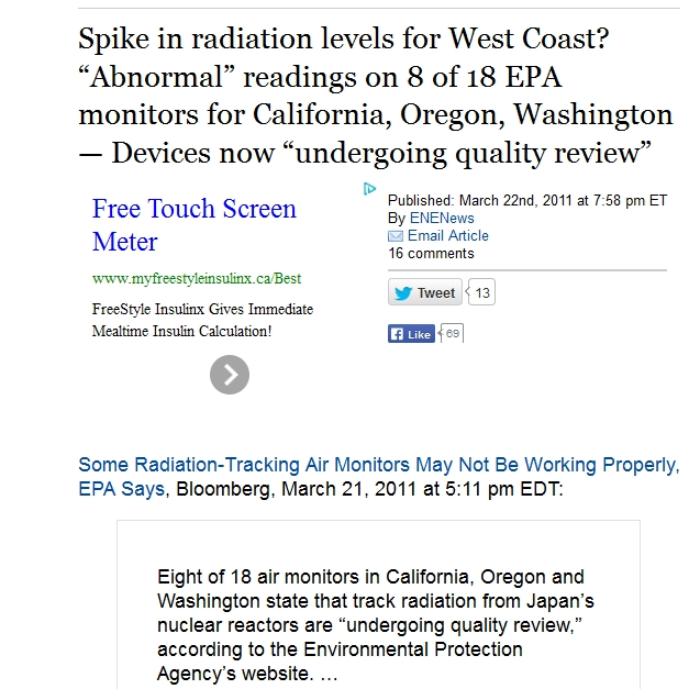 "2 Spike in radiation levels for West Coast ""Abnormal"" readings on 8 of 18 EPA monitors for California, Oregon, Washington.jpg"