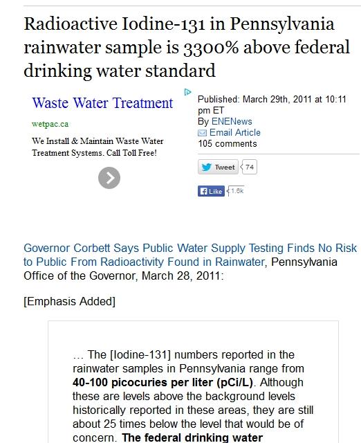 Radioactive Iodine-131 in Pennsylvania rainwater sample is 3300% above federal drinking water standard.jpg