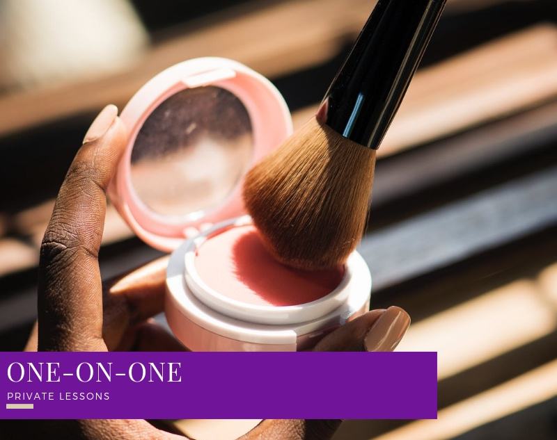 YOUR OWN PERSONALIZED HANDS ON TUTORIAL - ONE-ON-ONE PRIVATE BEAUTY LESSONS.