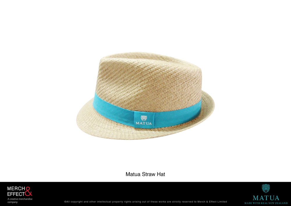 The rich and vibrant flavors of Matua's wine range bring back memories of warm, pleasant vacations and jovial gatherings outdoors. This is what inspired our design for this customized straw trilby hat that we made for the Matua brand.  We finished the design neatly with a band with Matua's logo and we chose to have it in turquoise blue to reflect the brand's signature color.