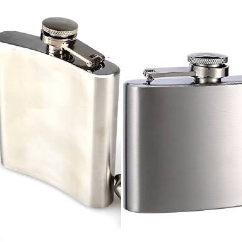 Stainless steel wine flasks