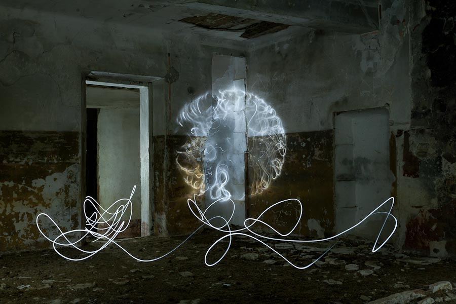 Example of light painting photography