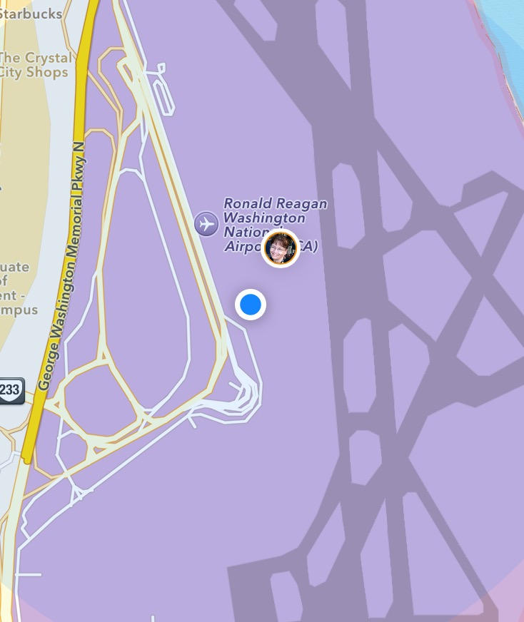 I'm the blue dot in this picture.  But that's inaccurate, because I wasn't blue at all.  I was excited.