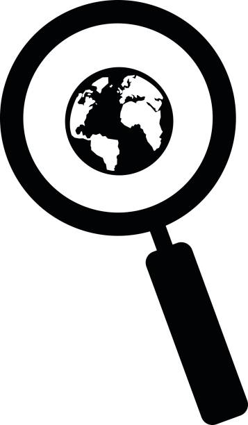 A magnifying glass around the world