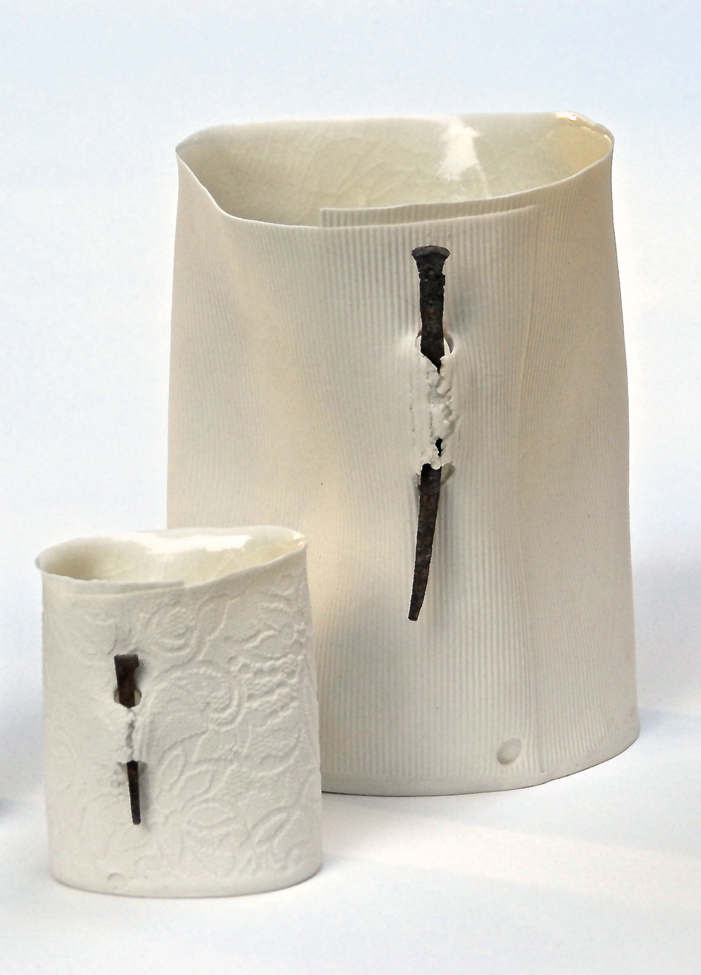 Nail vessels: Porcelain paper clay  Photo: Charlie Hawkins