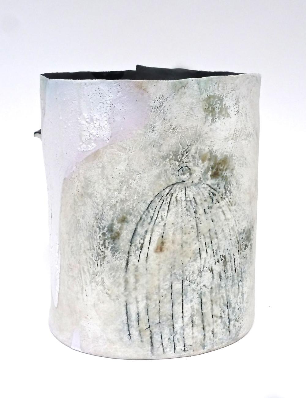 Stoneware vessel.