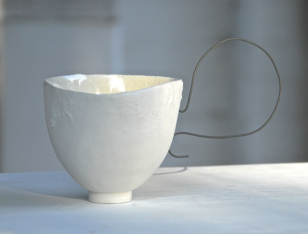 Cup: Porcelain and wire   Photo: Charlie Hawkins