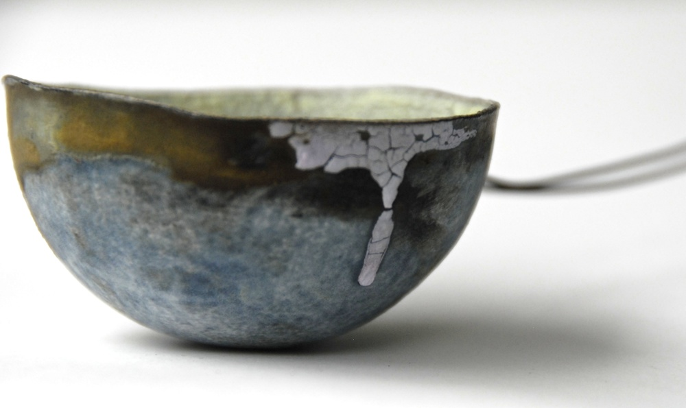 Spoon: Stoneware and wire.  Photo: Charlie Hawkins