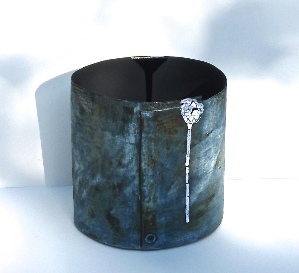 Grey stoneware vessel
