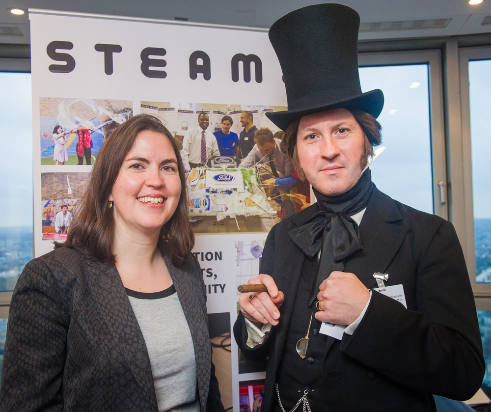 Mr Brunel with Suzy Christopher of BT