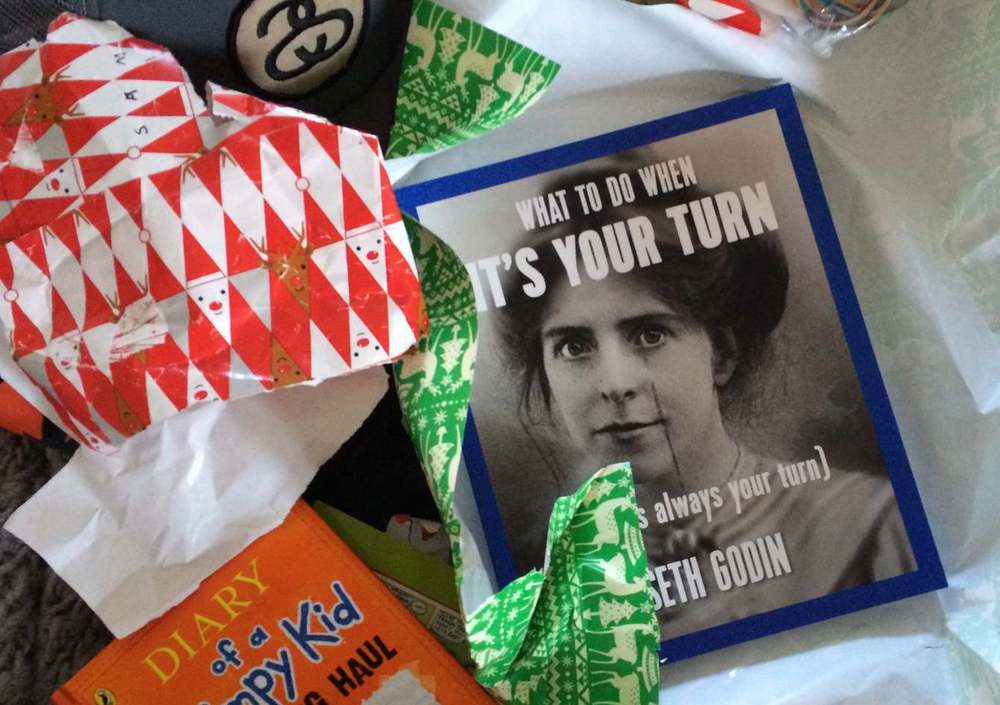 Seth Godin Its your turn book and STEAM Co Xmas.jpg