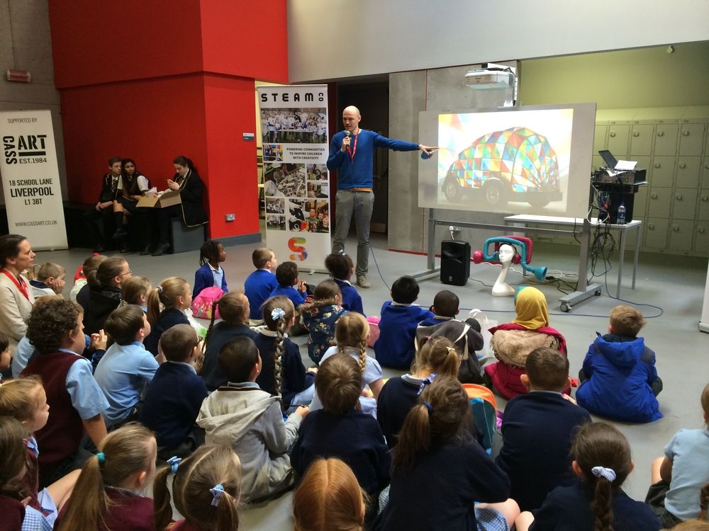 Children from the LifeSciences UTC and Studio School in Liverpool played a key role in the STEAM CO. Day they put on for local children.