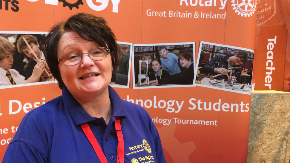 """""""We connect young people with people who can help them"""", said Donna. """"It's all about community and Rotary is in your community""""  Donna Wallbank Head of Community Engagement Rotary GB and Ireland"""