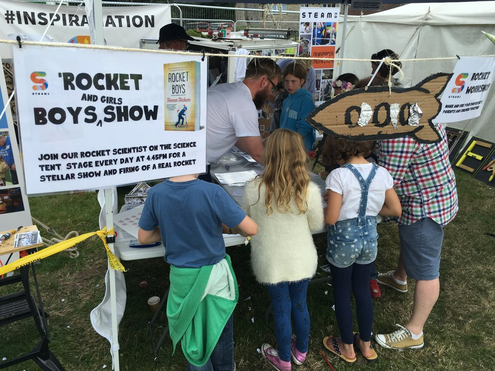 The STEAM Co. ROcket Science area at Camp Bestival