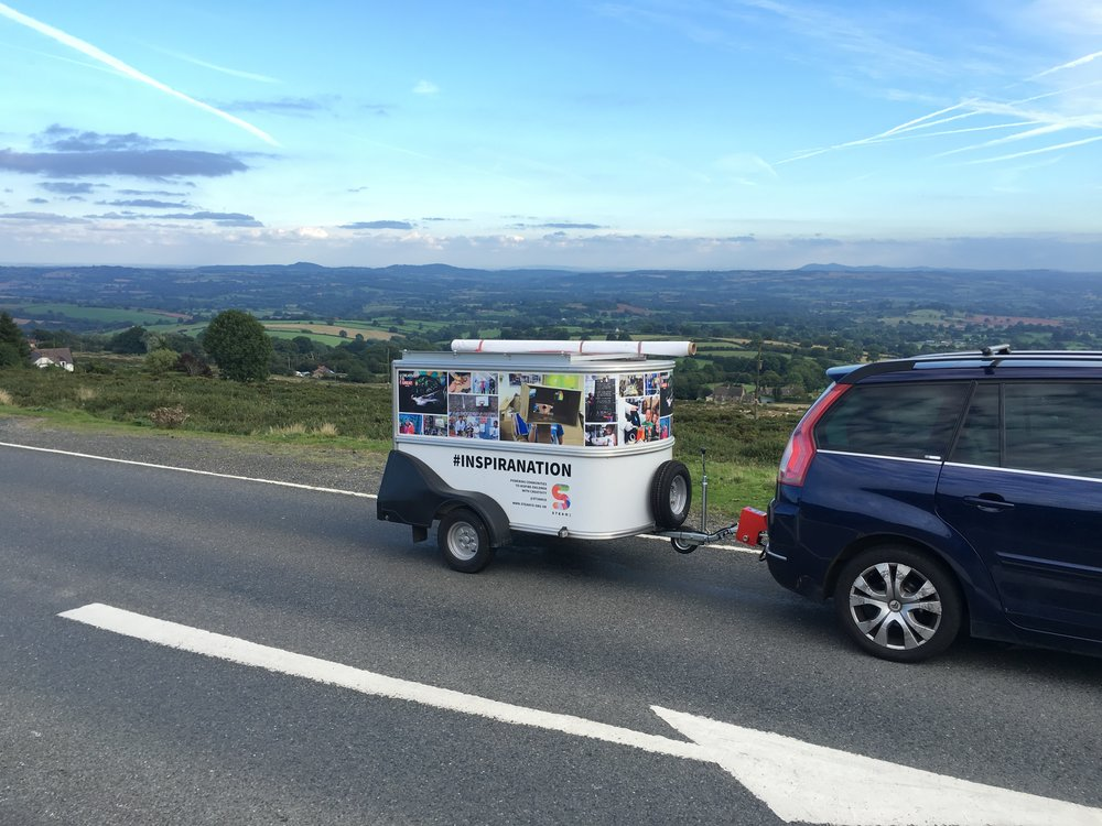 STEAM Co. Pop Up Drop Truck on Clee Hill Ludlow.JPG