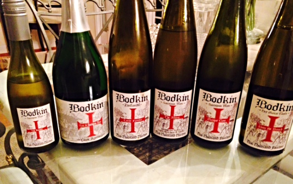 Preparing for the Bodkin Wine tasting