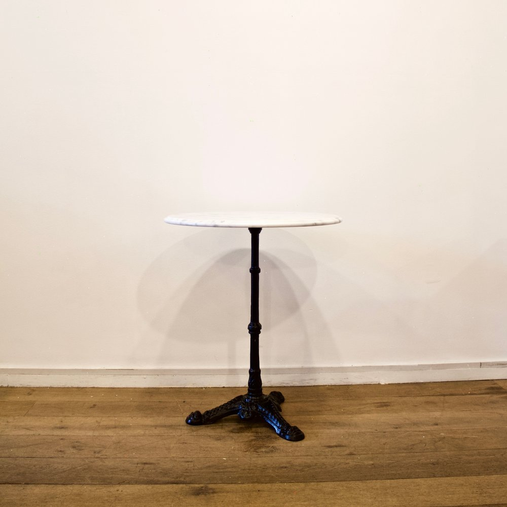 Round Marble Bistro Table