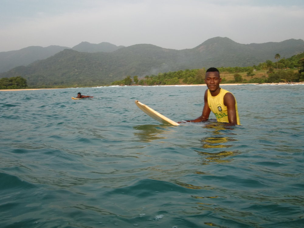 Surfing in West Africa