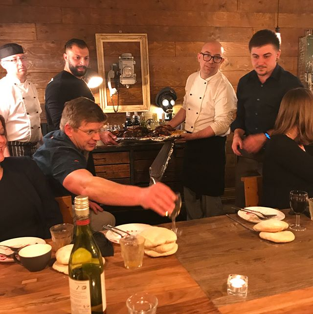 A huge thanks to Shai and his team @the_yafo_kitchen for our amazing pop up dinner for the Ue team last night. #popuprestaurant #dinner #dinnerparty