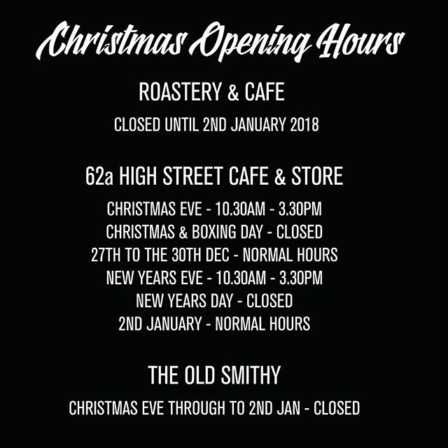 We will be open today at our Witney High Street Cafe & Store from 10.30 through to 3.30pm, so there is still time to stock up on those all important essentials. We also have a great selection of coffee and tea gifts still available in-store and we're offering 20% off all festive seasonal lines. #openinghours #witney #christmasopeninghours #uecoffeeroasters #witneysbestcoffee #witneysfavoritecoffeeshop #artisancoffee #coffee