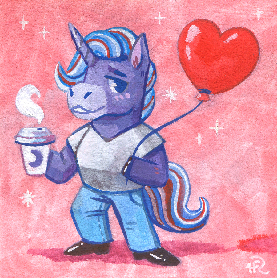 🦄🎈☕️ (unicorn, balloon, coffee)